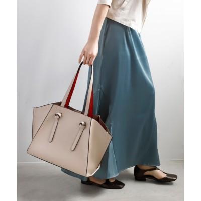 ANEMONE / バイカラーのノットハンドルトートバッグ WOMEN バッグ > トートバッグ