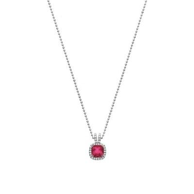 ネックレス イスラシモン Isla Simone Fine Jewelry Platinum Plated Sterling Silver Petite Cut Cubic