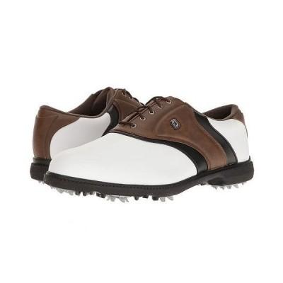 FootJoy フットジョイ メンズ 男性用 シューズ 靴 スニーカー 運動靴 Originals Cleated Plain Toe Twin Saddle - White/Brown/Black