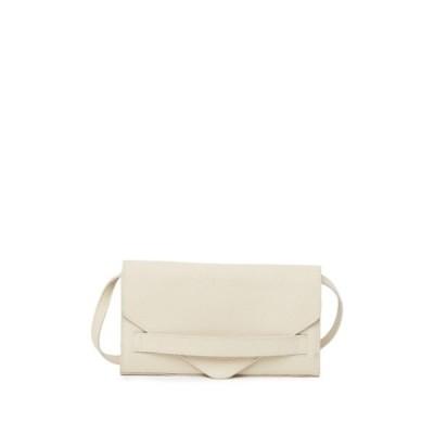 クリストファーコン レディース 財布 アクセサリー Envelope Leather Clutch With Crossbody Strap CREAM