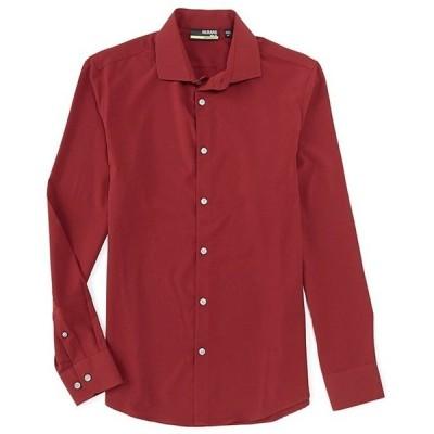 ムラノ メンズ シャツ トップス Slim-Fit Solid Performance Stretch Long-Sleeve Woven Shirt