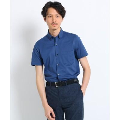 TAKEO KIKUCHI(タケオキクチ) ジャージボタンダウン半袖 ビジネスシャツ