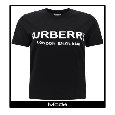 Burberry バーバリー Tシャツ レディース ロゴ ブラック
