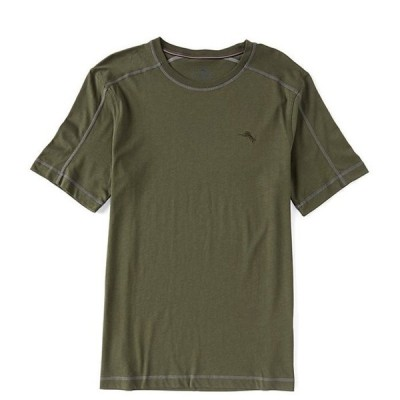 トッミーバハマ メンズ シャツ トップス Knit Jersey Solid Crew Neck T-Shirt