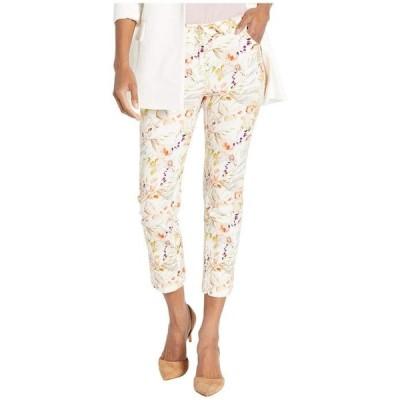 エリオットローレン レディース デニムパンツ ボトムス Garden Path Five-Pocket Floral Print Crop Jeans in Natural Multi