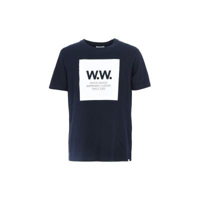 WOOD WOOD T シャツ ダークブルー S コットン 100% T シャツ