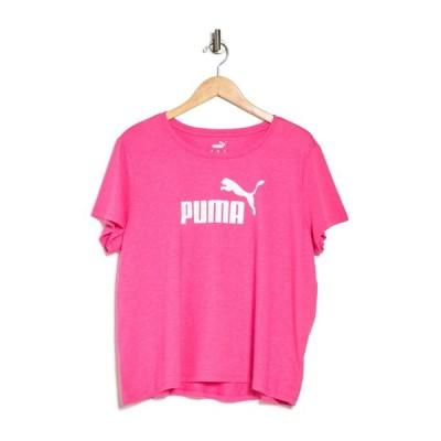 プーマ レディース Tシャツ トップス Logo Heathered Short Sleeve Tee PINK