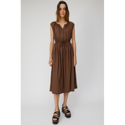 V NECK WAIST GATHER ドレス