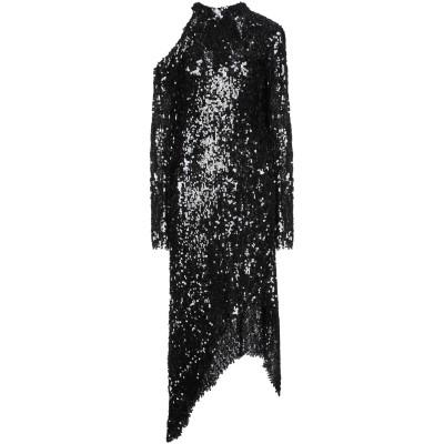 マグダ・ブトリム MAGDA BUTRYM 7分丈ワンピース・ドレス ブラック 38 指定外繊維 74% / レーヨン 16% / ポリエステル 1