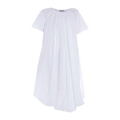 ジル サンダー JIL SANDER 7分丈ワンピース・ドレス ホワイト 34 コットン 100% 7分丈ワンピース・ドレス