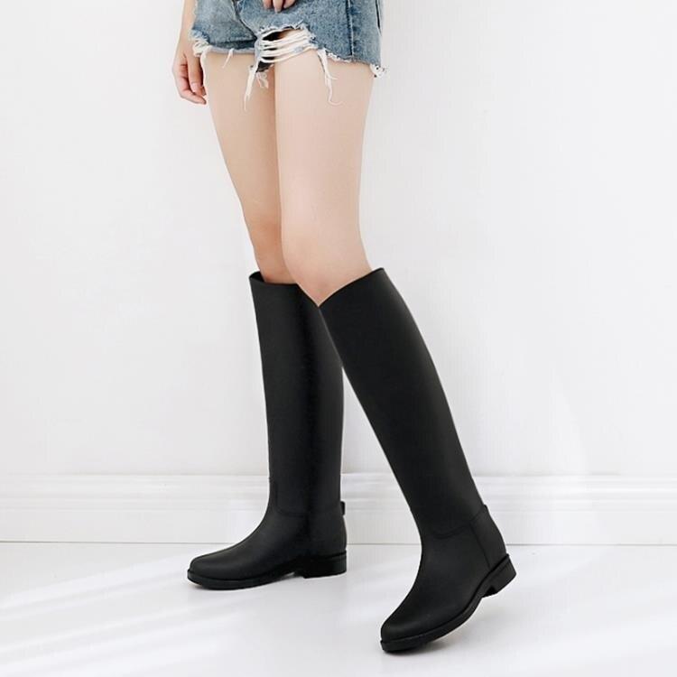 豔瑾韓國時尚戶外防水雨鞋女高筒長筒防雨靴女士水鞋防滑膠鞋