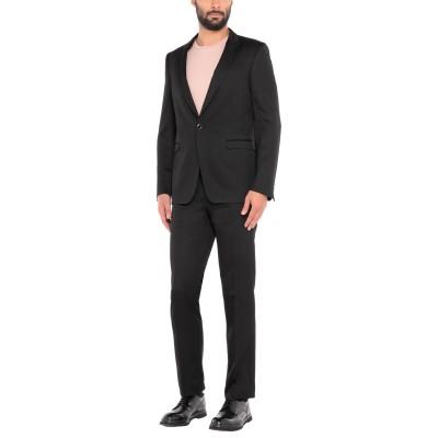 PAL ZILERI CERIMONIA スーツ ブラック 48 ウール 65% / レーヨン 35% / スワロフスキー スーツ
