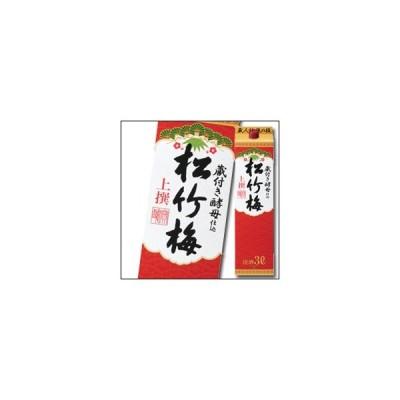 【送料無料】京都・宝酒造 上撰松竹梅 サケパック3L×1ケース(全4本)
