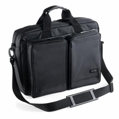 超撥水 軽量 ビジネスバッグ 2WAY A4収納 15.6インチ ノートパソコン 収納 ブラック [200-BAG122BK]