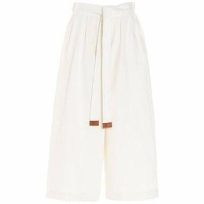 LOEWE/ロエベ White Cropped Belt jeans レディース 春夏2021 S359331XC82370 ju