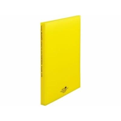 AQUA DROPs クリヤーブック厚口 A4 20ポケット 黄 リヒトラブ N5102-5