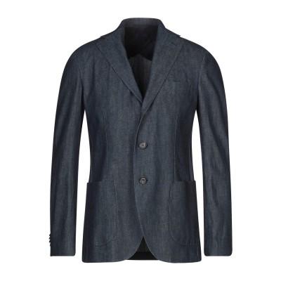 DOPPIAA テーラードジャケット ブルー 50 コットン 100% テーラードジャケット