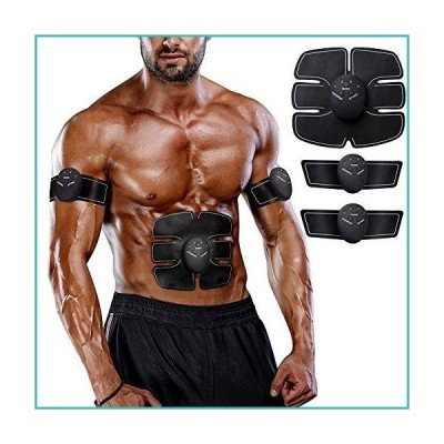 LANCS Muscle Toner Body Trainer Belt Workout Fitness Equipment Women Men Training Home Office Exercise for Abdomen Arm Leg Hip Building (Bla