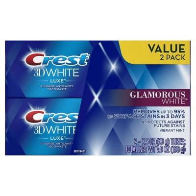 2個セット CREST 歯磨き粉 CREST グラマラスホワイト 3D ホワイト ルークス 99g (3.5oz) Crest 3D White Luxe Glamorous White