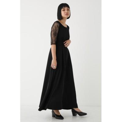 【シェルターセレクト】 レーススリーブクチュールドレス(Lase Sleeve Couture Dress)/ワンピース レディース ブラック FREE SHEL'TTER SELECT