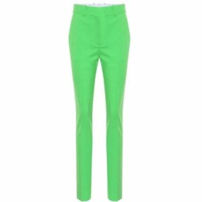 ヴィクトリア ベッカム Victoria Beckham レディース スキニー・スリム ボトムス・パンツ slim wool-blend trousers Apple Green
