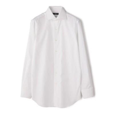 【シップス メン】SD: ALBINI バンド ソリッド ワイドカラーシャツ