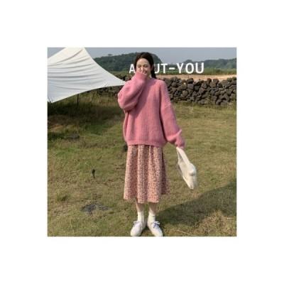 【送料無料】秋と冬 年 セーター 花のドレス 西洋風 ネット 赤いスカート 揚げ物 | 364331_A64517-0511352