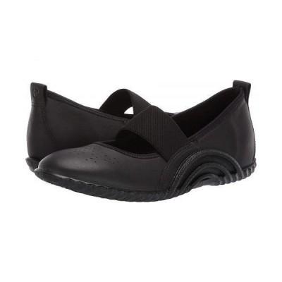 ECCO エコー レディース 女性用 シューズ 靴 フラット Vibration 1.0 Mary Jane - Black Yak Leather