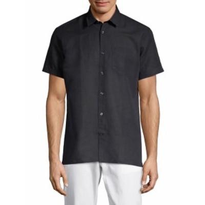 J. リンデベルク メンズ カジュアル ボタンダウンシャツ Short-Sleeve Button-Down Shirt