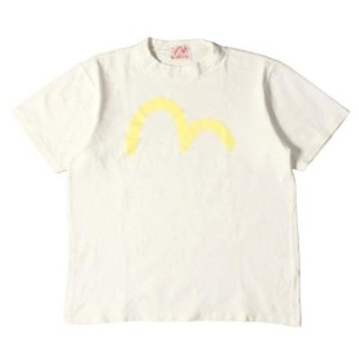 EVISU エヴィス Tシャツ カモメプリント ヘビーTシャツ ホワイト 38 M 【メンズ】【中古】【K2991】