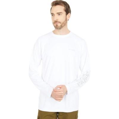 コロンビア Columbia メンズ 長袖Tシャツ トップス PFG Terminal Deflector(TM) Long Sleeve Shirt White/Cool Grey
