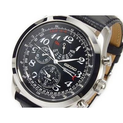 セイコー SEIKO クオーツ メンズ クロノグラフ 腕時計 SPC133P1 ブラック