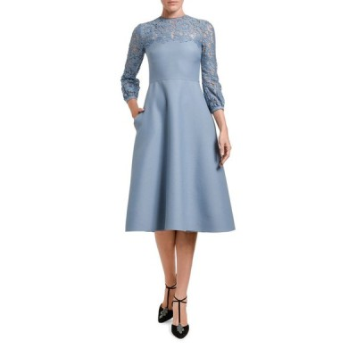 ヴァレンティノ レディース ワンピース トップス Lace 3/4-Sleeve Dress