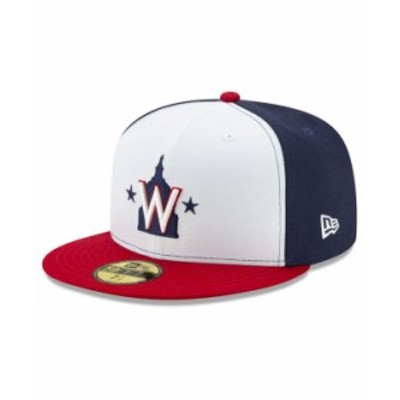 ニューエラ メンズ 帽子 アクセサリー Washington Nationals Authentic Collection 59FIFTY Cap Navy/White/Red