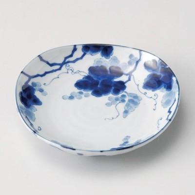 和食器 小さな藍染ぶどう三角 12×2.5cm 小皿 豆皿 お醤油 プチ うつわ 陶器 カフェ おしゃれ おうち 軽井沢 春日井