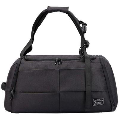 ジムバッグ メンズ シューズ収納 スポーツバッグ ボストンバッグ 3way 大容量 ロック付 2カラー(ブラック)