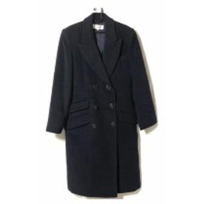 イヴサンローラン YvesSaintLaurent コート サイズ36 S レディース ダークネイビー 肩パッド/冬物【中古】20200617