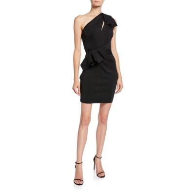 エルベレジェ レディース ワンピース トップス Double-Face Metallic One-Shoulder Dress
