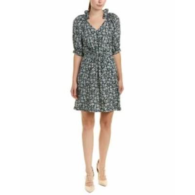 Rebecca Taylor レベッカテイラー ファッション ドレス Rebecca Taylor Floral Silk Shift Dress 10 Black