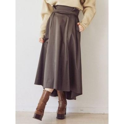 スカート ワイドベルトボリュームスカート