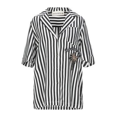SHIRTAPORTER シャツ ブラック 40 レーヨン 100% シャツ