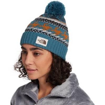 ノースフェイス レディース 帽子 アクセサリー The North Face Women's Fair Isle Beanie Mallard Blue/Timber Tan