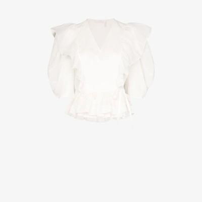 クロエ Chloe レディース トップス ruffled wrap top white