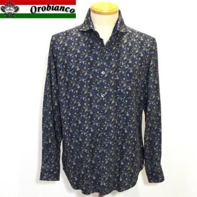 オロビアンコ SALE 19-20新作 総柄オープンシャツ ネイビーL・LL 43360-109 Orobianc
