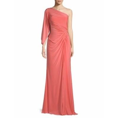 レネルイズ レディース ワンピース Asymmetrical Neckline Drape Gown