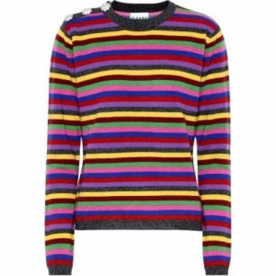 ガニー Ganni レディース ニット・セーター トップス Striped cashmere sweater Multicolour
