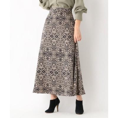 aquagirl / アクアガール サテンフラワーAラインスカート