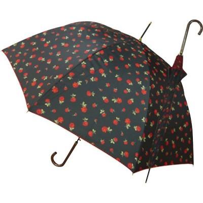 雨天兼用婦人深張ローズプリントワンタッチ傘 OCVL-35JN
