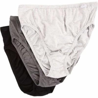 ジョッキー Jockey レディース ショーツのみ 3点セット 大きいサイズ Plus Size Elance French Cut 3-Pack Grey Heather/Charcoal Grey H