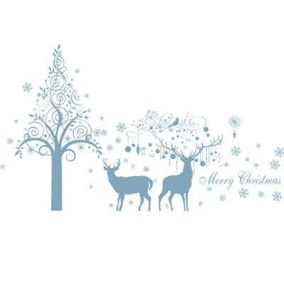 2枚セット ウォールステッカー 壁紙 シール 貼ってはがせる 壁装飾 おしゃれ 防水 クリエイティブ装飾 リビングルーム ホーム 寝室 クリスマス